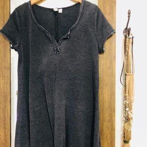 Dresses & Skirts - Black Acid Wash T Shirt Dress